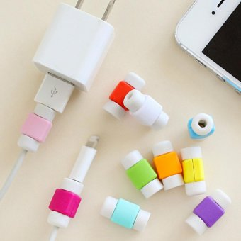 Harga Makiyo 5pcs candy color for iPhone data cable headset protector - intl
