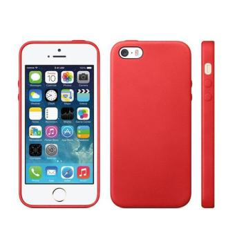 Harga Luxury Soft TPU GEL Case Bakc Cover for Apple iPhone 5 5S Red - intl