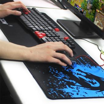 ... Pengunci Mouse Pad Gaming besar tepi alas Mouse kecepatan kontrol versi untuk Internet Bar Mousepad