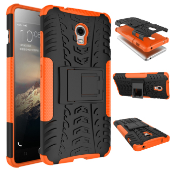 Harga Moonmini High Impact Rugged Shockproof Case with Kickstand for Lenovo Vibe P1 (Orange)
