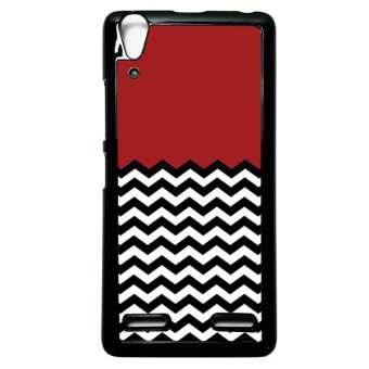 Harga Heavencase Case Casing Lenovo A6000 and A6000 Plus Hardcase Batik Kayu Chevron 32 - Hitam