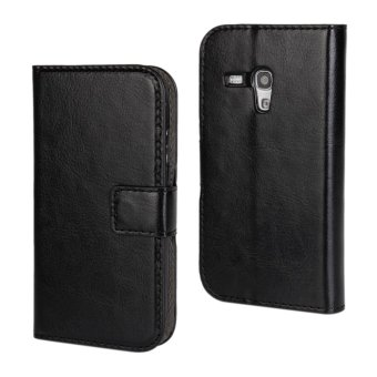 Harga Holster Flip Stand Wallet Crazy Horse PU Leather Case Cover For Samsung S3 mini (Black) - intl