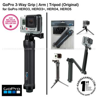 Harga GoPro 3 Way Grip | Arm | Tripod 3-in-1 Mount AFAEM-001 (Original) for GoPro Hero3 / Hero3+ / Hero4 / Hero5 Action Camera