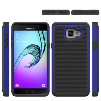 For Samsung Galaxy C5 Hybrid Armor Phone Cover Case(Black Gold)