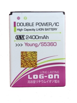 Harga Log On Battery Double Power For Samsung Galaxy Young S5360/Galaxy Chat/Galaxy Pocket - Putih