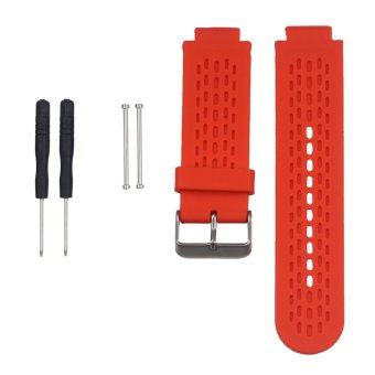 Harga Replacement Silicone Watch Band Strap for Garmin vivoactive /Approach S2/ Approach S4 GPS Watch With Pins & Tool in Red