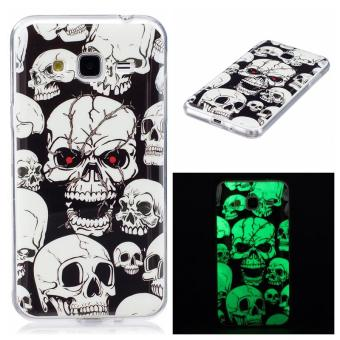 Harga Skull ghost head Noctilucent TPU Soft Gasbag Back Case Cover For Samsung Galaxy J3 Case - intl