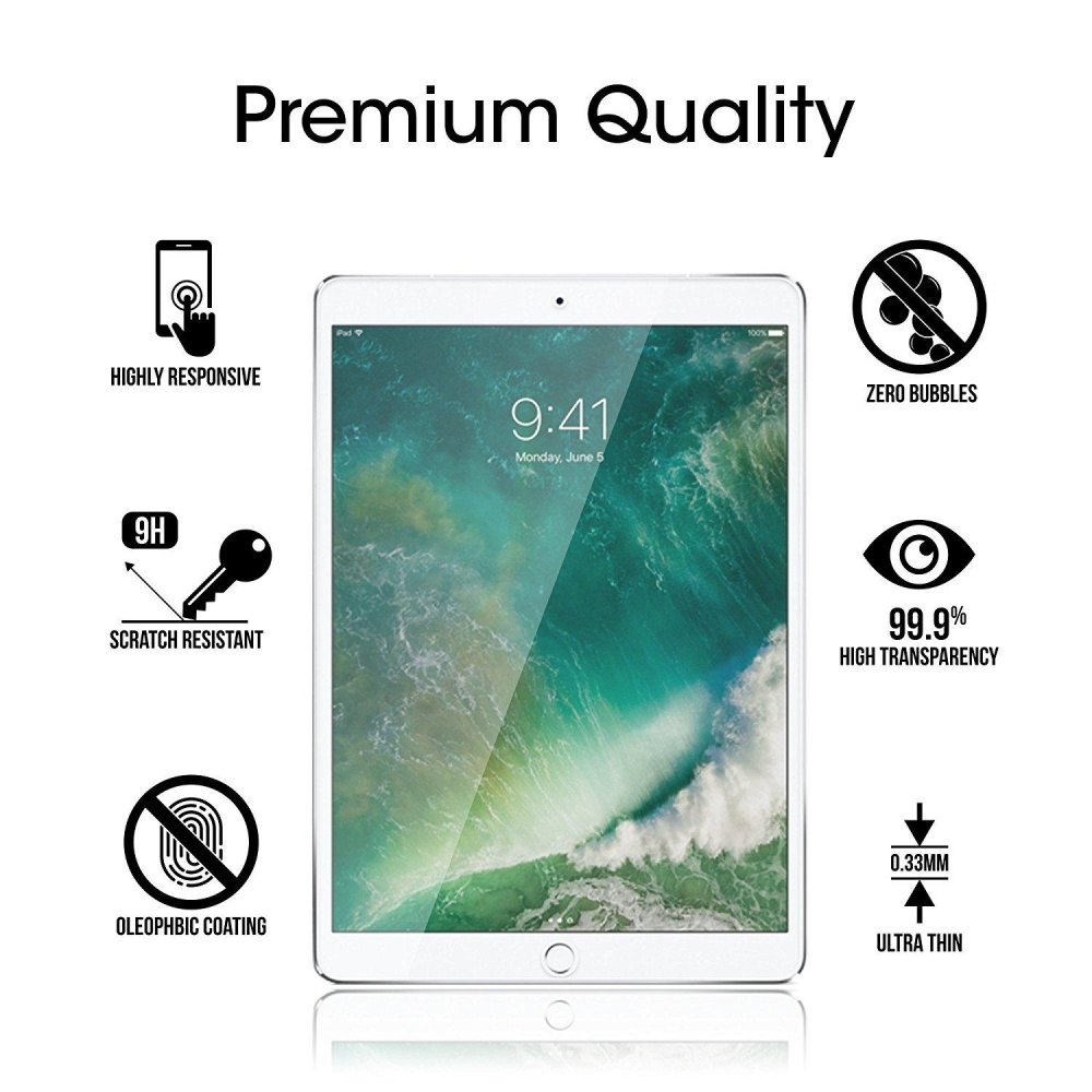 ... iPad Pro 10.5 inch Screen Protector Glass, Tempered Glass ScreenProtector for Apple iPad Pro 10.5 ...
