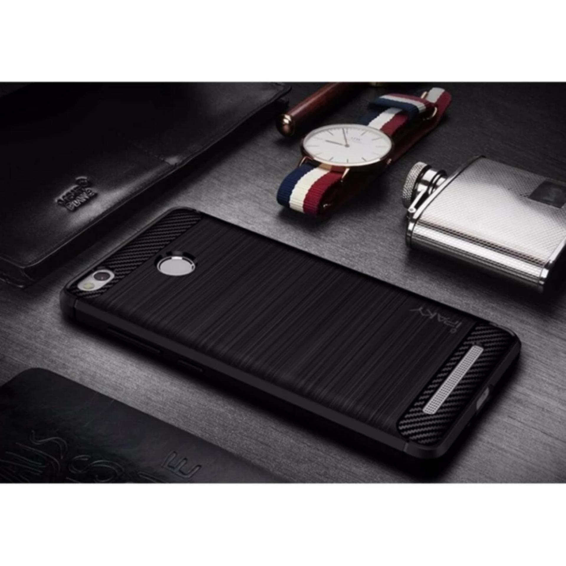 iPaky Carbon Fiber Shockproof Hybrid Back Case for Xiaomi Redmi 3 Pro /