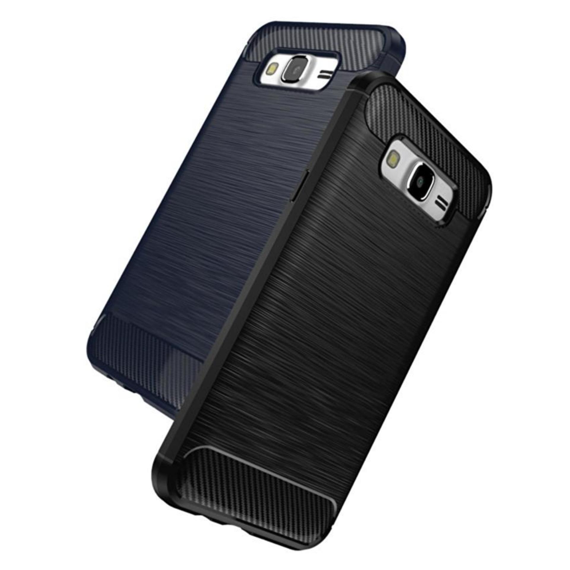 Case Ipaky Soft Carbon Shockproof For Samsung Galaxy J7 Prime On7 Peonia Transparent Acrylic Hybrid Tg Fiber J2prime Black