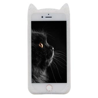 iPhone 5 5s Case,Cute 3D Gray Glitter MEOW Party Cat Kitty Whiskers Soft Silicone Case for iPhone 5 5s 5SE (Cat-Glitter) - intl - 2