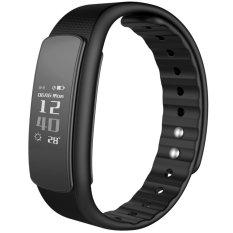 Iwownfit I6 HR TPU + TPE Bluetooth v4.0 IP67 Smart gelang - hitam