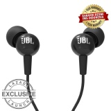 JBL C100SI In-Ear Headphones with Mic - Compatible withAndroid & iOS - Hitam