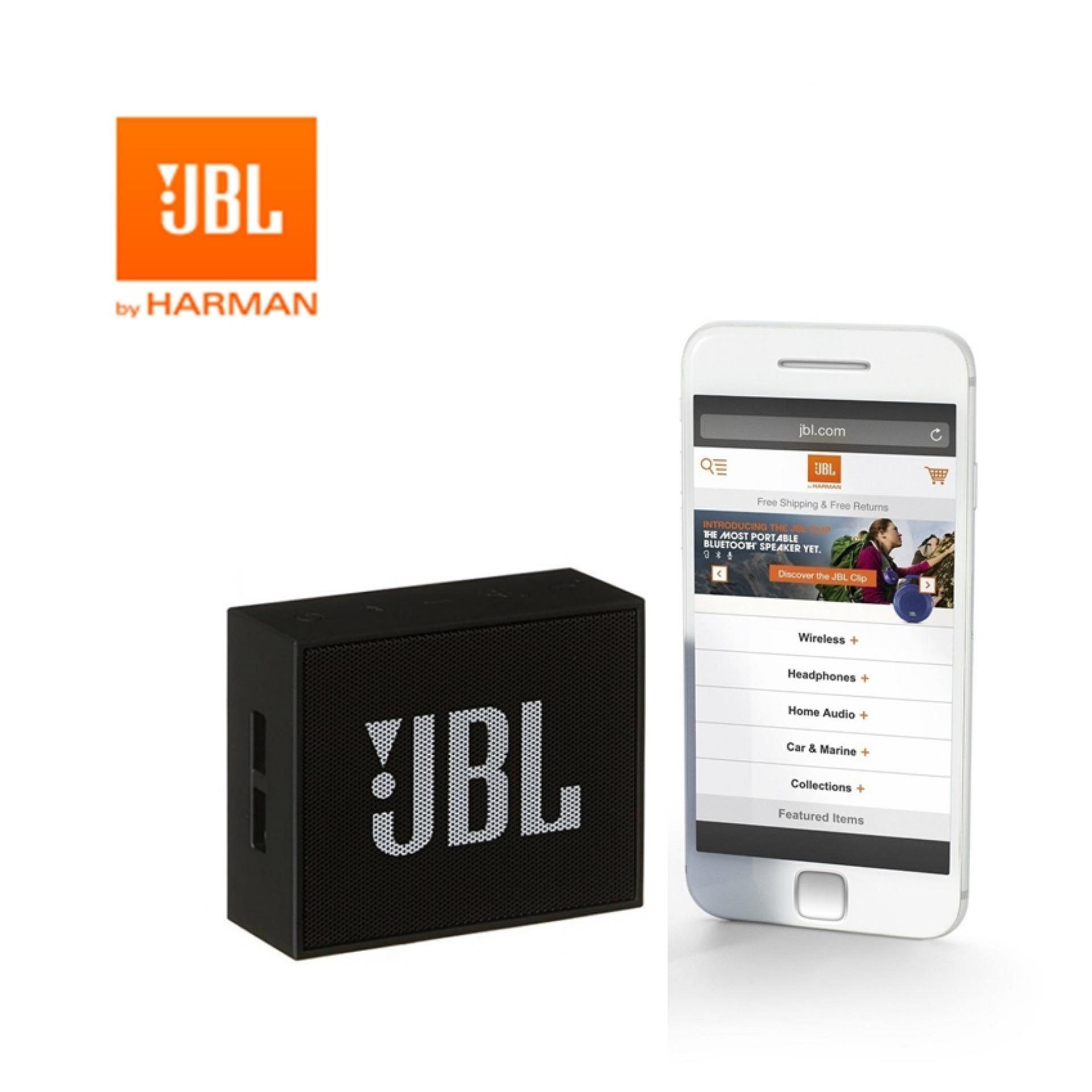 JBL GO Portable Wireless Bluetooth Speaker Original - Hitam ...