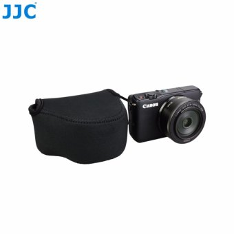JJC Neoprene Mirrorless Compact Camera Pouch Case Bag (lembut kantong tas pelindung) for Canon EOS M M2 M3 M10+22mm Lens, Canon PowerShot SX410IS SX420IS SX500IS --Small (up to 111 x 69 x 87mm) - 5