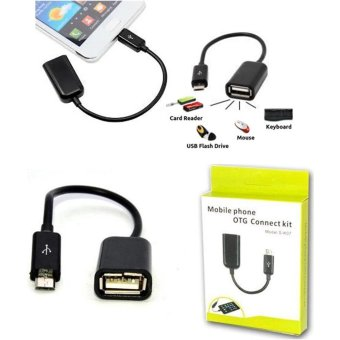 Kabel OTG Micro Usb Connection Kit Adapter for Oppo A39 - Hitam - 2