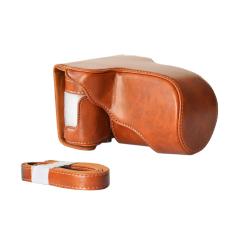 Kamera kasus klasik PU kulit tas bahu dengan tali pengikat kantong pelindung untuk A1 - A2 - Fuji Fujifilm X X Raya A3 x - M1 -