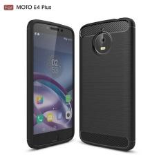 Karbon Kasar Armor Cover Case untuk Motorola MOTO E4 Plus