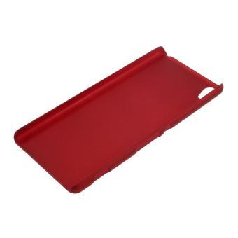 Karet Hard Cover case untuk Sony Xperia XA / XA Dual - merah