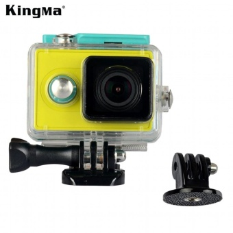 Harga KingMa Original Xiaomi Yi Camera Waterproof Case, Mi Yi 40M DivingSports Waterproof Box, Yi Action Camera aksesoris Accessories -intl