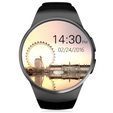 KingWear KW18 1.3 Inch Round Dial Smartwatch Ponsel MTK2502 IPS Layar Pedometer Sedentary Pengingat Bluetooth 4.0 Heart Rate Monitor