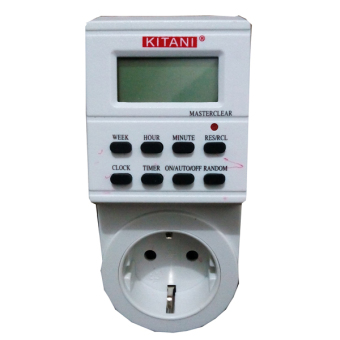 Kitani Timer Display Digital 24 Jam Pengontrol Alat Elektronik