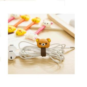Klip Kabel Pengikat /Penggulung Kabel Rilakkuma Cord Clip Cable Holder - 4 .