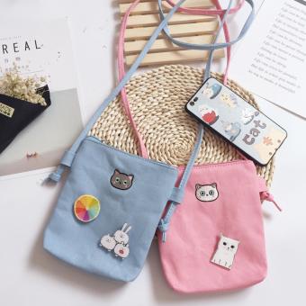 Harga Termurah Korea Fashion Style Kanvas Perempuan Mini Tas Kecil 416c1f22c8