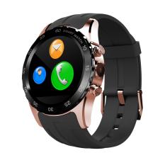 KW08 NFC pergelangan tangan jam tangan pintar GSM GPS denyut jantung fonematesmartwatch Bluetooth untuk Android dan IOS hitam Gold \ x89 - International