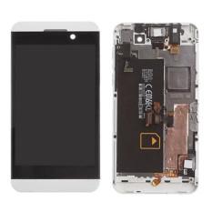 Layar LCD dengan Bingkai Lengkap Tampilan Layar LCD Touch Bagian Pengganti Layar Putih For Blackberry Z10 4g