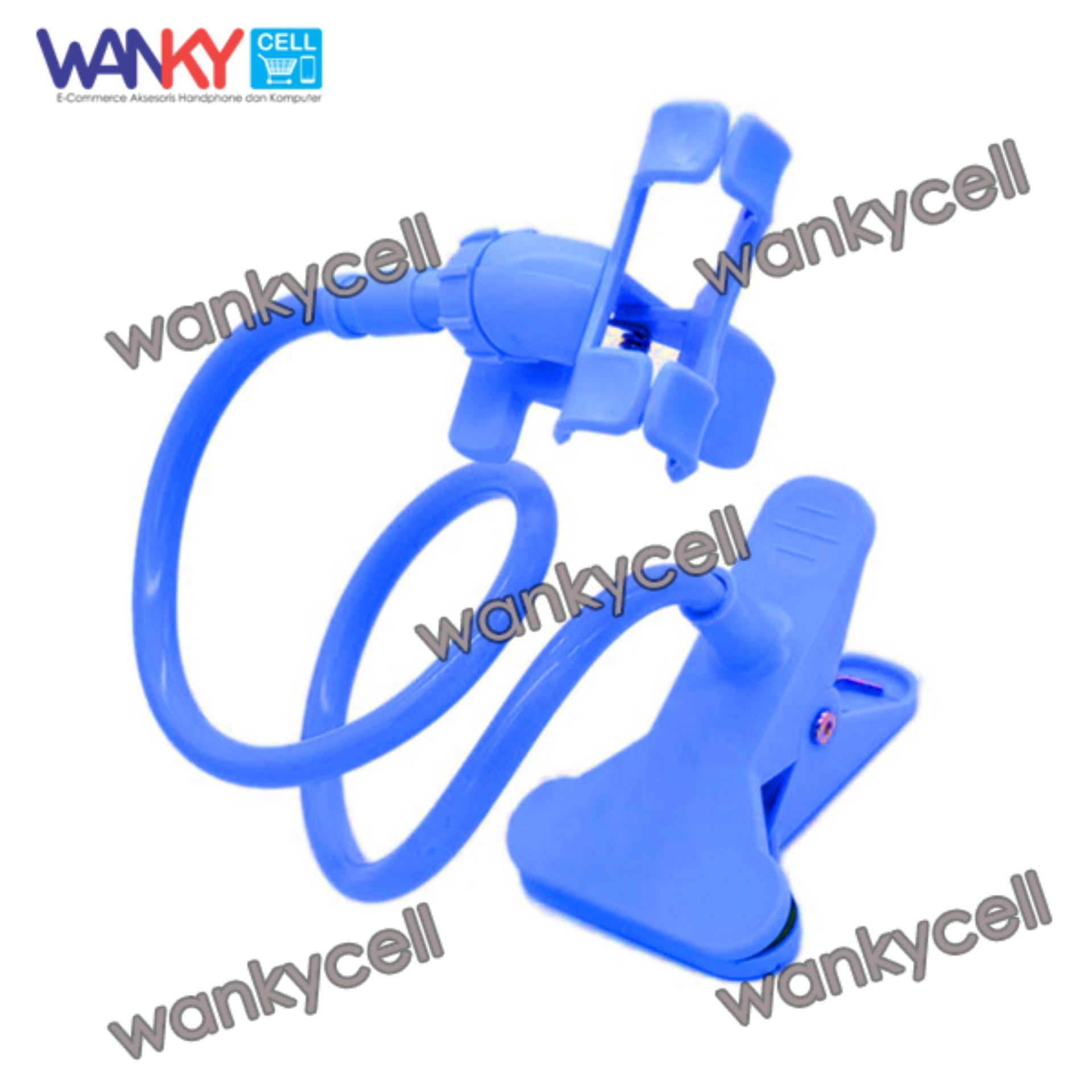 Lucky Universal Flexible 360° Stand Lazy Holder Lazy Pod Jepit Narsis Jepsis + Free Klip