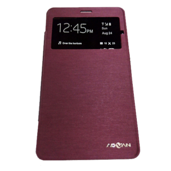 Leather Case Advan S6A - Merah