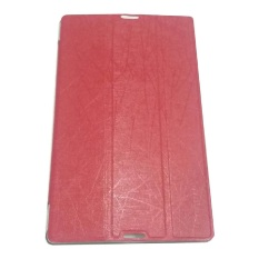Leather Case Tablet For Lenovo Tab 2 A8-50 Leather Flip Stand Smart Case Cover/ Sarung Pelindung Tablet - Merah
