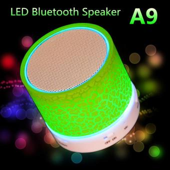 LED MINI Portable Wireless Bluetooth Speaker TF USB Music SoundSubwoofer Box - intl
