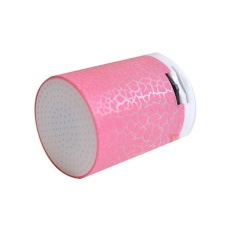 LED Portable Mini Bluetooth Speakers Wireless Hands Free Speaker With TF Pink - intl