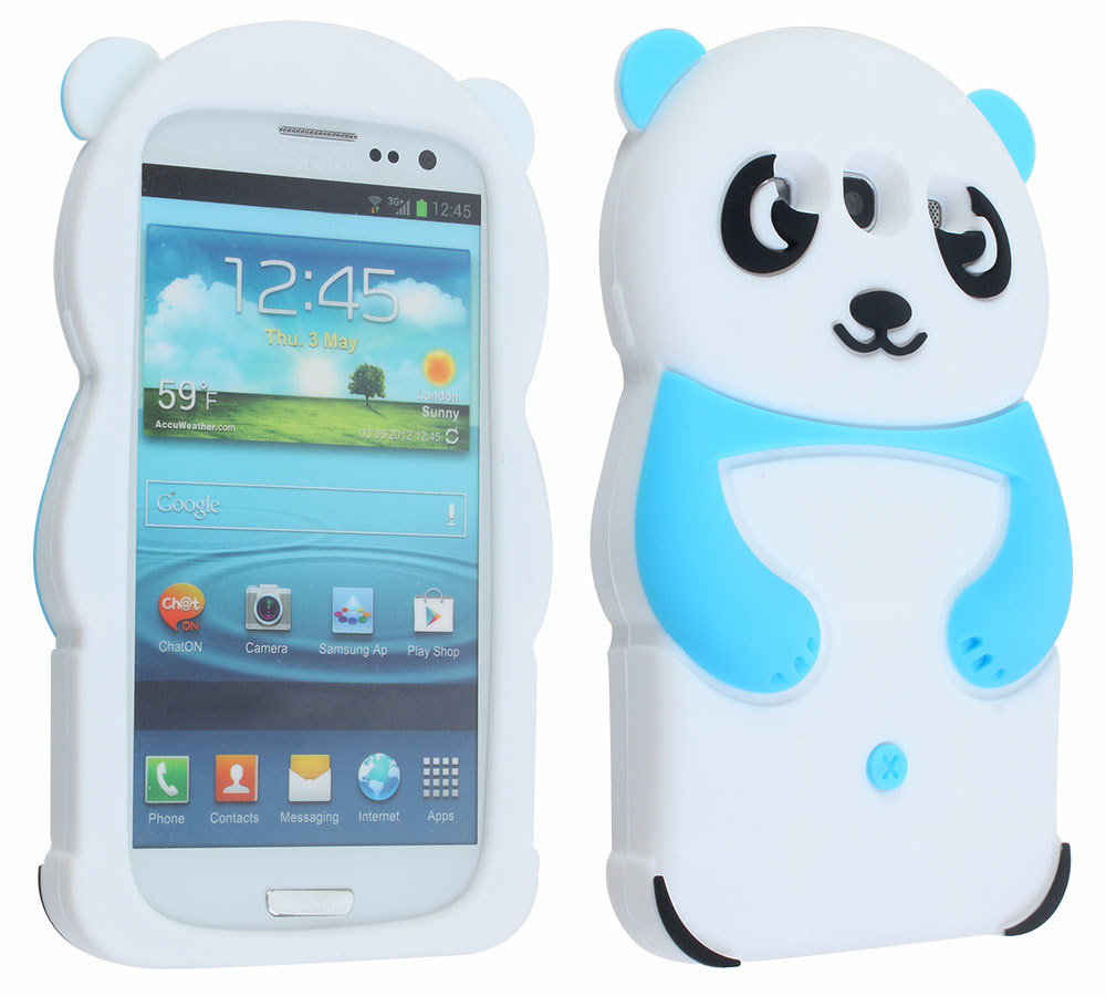 ... SAMSUNG GALAXY S3 III I9300 INTL ... Leegoal Baby Blue Cute 3D Panda Soft Silicone Gel Case Cover for the .