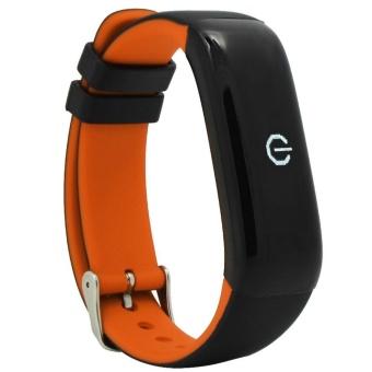 Beli leegoal Bluetooth Smart Band P1 Heart Rate Blood Pressure Fitness Track Pedometer Sport Wristband Cicret Bracelet - intl Online