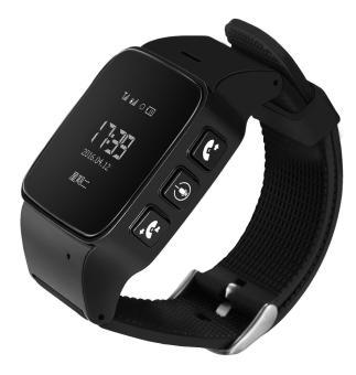 leegoal D99 Elderly Kids GPS Tracker Android Smart Watch Google Map SOS Wristwatch Personal GSM GPS LBS Wifi Safety Anti-Lost Locator Watch(Black)