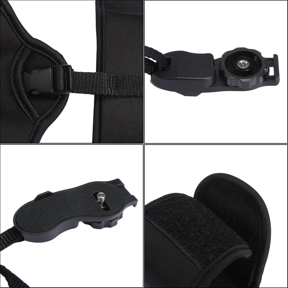 ... leegoal DSLR Camera Grip Hand Strap, Professional Padded Dual Grip/Wrist Strap Comfort Padding ...