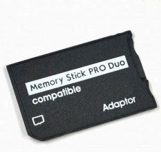 Leegoal Generik MicroSD Ke Memory Stick Pro Duo Adaptor Kartu (Clear Crystal Paket Kotak), Hitam-Intl