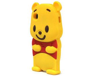 Detail Gambar Leegoal kuning Winnie The Pooh Bear Case silikon lembut cocok untuk iPhone 4 4S - International dan Variasi Modelnya