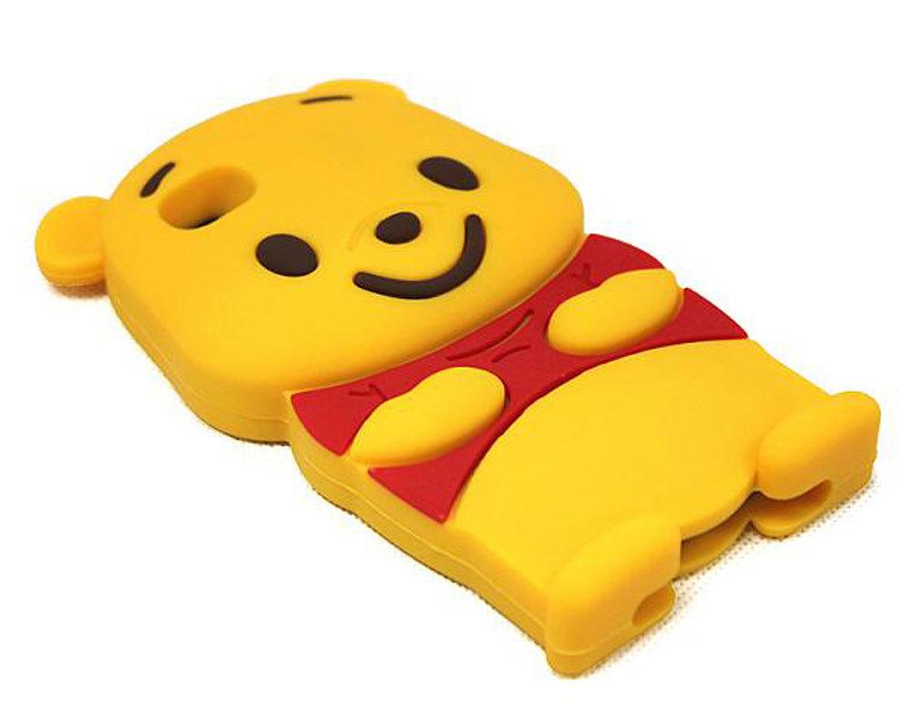 Leegoal kuning Winnie The Pooh Bear Case silikon lembut cocok untuk iPhone 4 4S - International ...