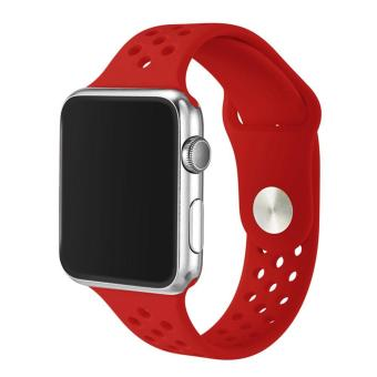 leegoal Soft Silicone Sport Band For Apple Watch Series 2Replacement Strap For Apple IWatch Nike Sport Band 42mm - intl