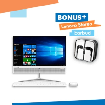 "Lenovo Ideacenter AIO 510-22ISH-SEID WHITE Ci3-7100T - 4GB - 1TB - Win10Home - UMA - 21.5"" - 1YearWarranty"