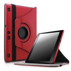 Lenovo tab 2 A10/tab 3 A10 kasus, cerdas dan stan yang berputar penutup PU kulit kasus untuk Lenovo tab 2 A10 Rilis/Lenovo tab 3 10 pusat TB3-X70 10.1 tablet rilis 2016, Merah