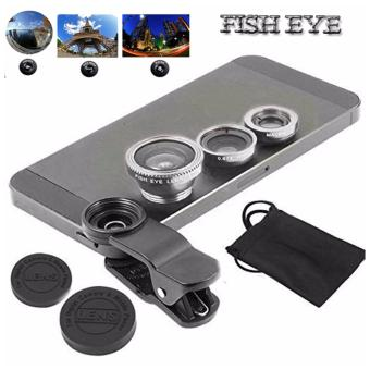 Lensa Fisheye 3in1 For Universal Smartphone Fisheye,Wide,Macro-Silver