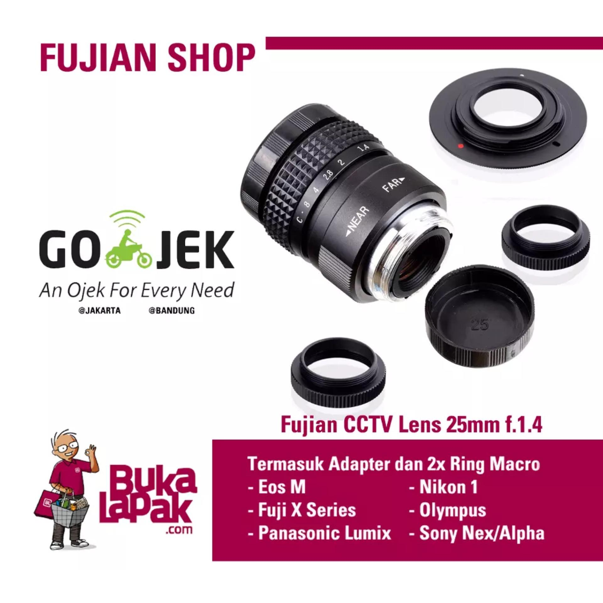 Lensa Manual Mirrorless Fujian 25mm F14 Cctv Lens Swirly Bokehbuat Meike 35mm F17 For Sony A5000 A5100 A6000 A6300 A6500 Fix Bokeh