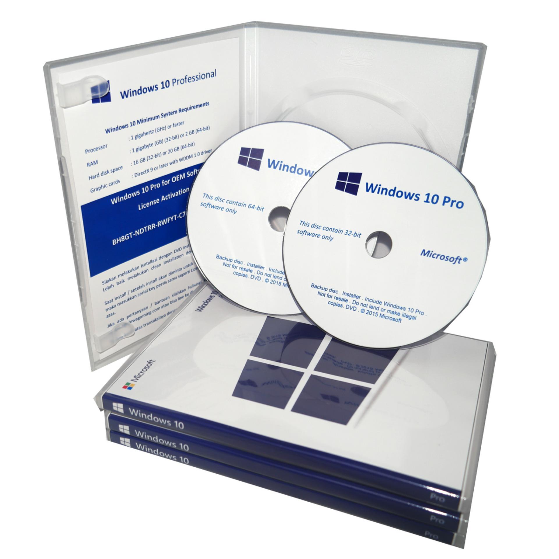 Belanja Terbaik Lisensi Coa Windows 10 Professional Oem Dvd Box Pro