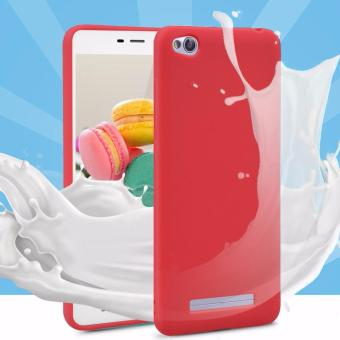 Lize Jelly Case Xiaomi Redmi 4A Candy Rubber Skin Soft Back Case / Softshell / Silicone Xiaomi Redmi 4A / Jelly Case / Ultrathin / Case Xiaomi / Casing Hp - Merah / Red