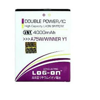 LOG-ON Battery For Evercoss A75W / WINNER Y1- 4000mAh Double Power& IC - Garansi 6 Bulan